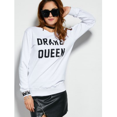 Pullover Sweatshirt With Text