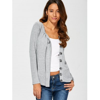 Side Button Up Cardigan