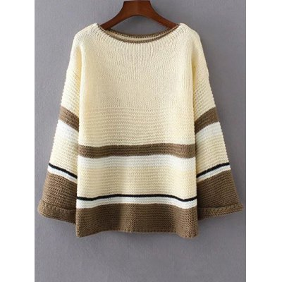 Colorful Color Block Sweater
