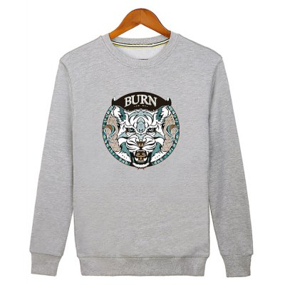 Crew Neck Graphic Sweatshirt
