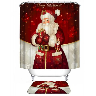 Merry Christmas Waterproof Shower Curtain