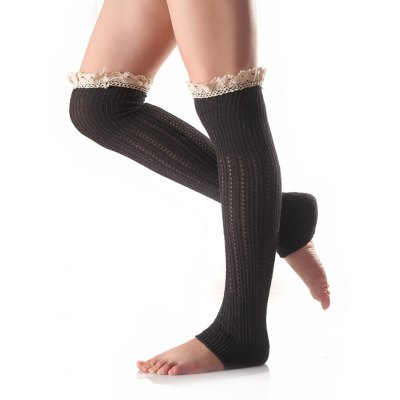 Lace Edge Knitted Leg Warmers