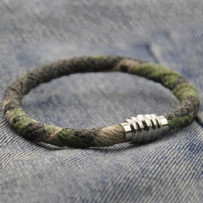 Faux Leather Camouflage Bracelet