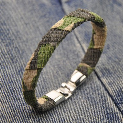 Vintage Camouflage Design Artificial Leather Bracelet