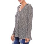 cheap Hooded Heathered Loose Knitwear