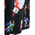 best Christmas Santa Claus Print Dress