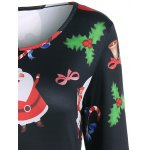 Christmas Santa Claus Print Dress deal