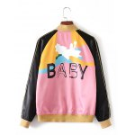 cheap Baby Letter Patchy Bomber Jacket