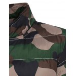 Stand Collar Zip Up Camouflage Padded Jacket deal