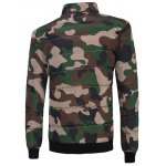 cheap Stand Collar Zip Up Camouflage Padded Jacket