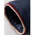 Contrast Trim Zip Up Faux Fur Collar Padded Jacket for sale