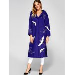 cheap Hooded Embroidery Woolen Blend Coat