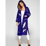 Hooded Embroidery Woolen Blend Coat deal