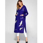 best Hooded Embroidery Woolen Blend Coat