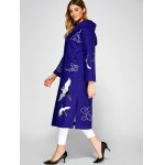 Hooded Embroidery Woolen Blend Coat photo