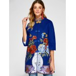 cheap Chinese Style Embroidery Woolen Blend Coat