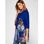 Chinese Style Embroidery Woolen Blend Coat for sale
