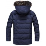 cheap Pocket Front Zippered Faux Fur Hooded Padded Jacket