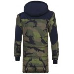 cheap Zip Up Spliced Hooded Padded Camo Coat