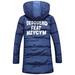 cheap Patch Design Hooded Side Zip Up Padded Coat