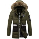 Printed Faux Fur Hooded Paneled Zippered Padded Coat
