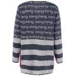 cheap Pockets Graphic Striped Cardigan