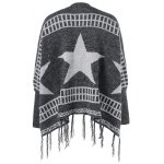 cheap Star Fringed Loose Cardigan