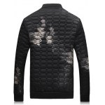 cheap Geometric Pattern Cloud Printed Quilted Jacket
