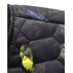 Geometric Pattern Feather Printed Quilted Jacket deal