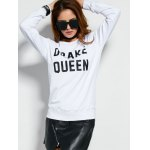 Pullover Sweatshirt With Text deal