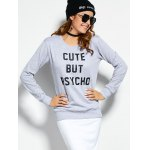 Crew Neck Graphic Pullover Sweatshirt for sale