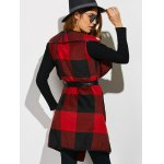 Belted Plaid Wrap Coat for sale