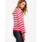 Casual Drop Shoulder Striped Pullover Sweater deal