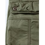 best Zipper Fly Plus Size Pockets Flocking Cargo Pants