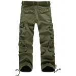 cheap Zipper Fly Plus Size Pockets Flocking Cargo Pants