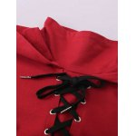 High Neck Lace Up Hoodie deal