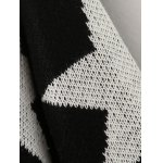 best Collarless Two-Tone Star Long Cardigan