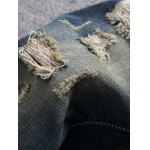 Scratched Pocket Rivets Ripped Destroyed Jeans deal