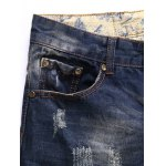 Zipper Fly Pocket Rivets Scratched Ripped Jeans deal