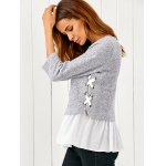 Lace Up Flounced Pullover deal