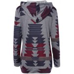 cheap Geometric String Loose Hoodie