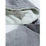 Hooded Thicken Flocking Hoodie for sale