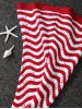 best Color Splicing Striped Knitted Kid's Mermaid Tail Blanket