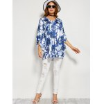 best Coconut Tree Print Backless Blouse