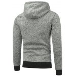 Zip Embellished Pullover Applique Hoodie for sale