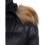 Belted Furry Hooded Puffer Jacket deal