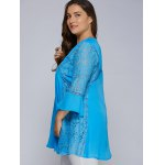Lacework Splicing Hollow Out Plus Size Blouse for sale