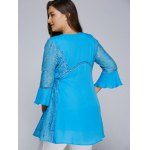 best Lacework Splicing Hollow Out Plus Size Blouse