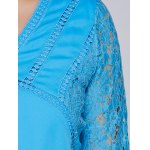 Lacework Splicing Hollow Out Plus Size Blouse photo
