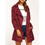 Epaulet Long Wrap Coat